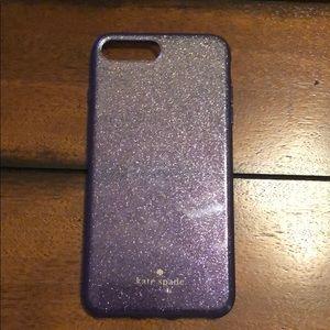 Katie Spade ombré Purple glitter caseiPhone7/8plus